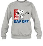 Snoopy Dad's Day Off Gardening Crewneck Sweatshirt Outdoor Activity