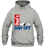 Snoopy Dad's Day Off Sleeping Hoodie Sweatshirt For Father