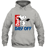 Snoopy Dad's Day Off Reading Hoodie Sweatshirt For Father