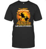 I'm A Grumpy Old Witch My Level Of Sarcasm Depends On Your Level Of Stupidity T-shirt Halloween Tee