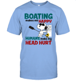 Joe Cool Snoopy Boating T-shirt Boating Makes Me Happy Tee