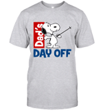 Snoopy Dad's Day Off Skiing T-shirt Outdoor Activity Father Tee