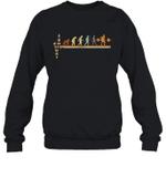 Vintage Evolution Love Lifting Weights Crewneck Sweatshirt Family Tee
