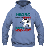 Joe Cool Snoopy Hiking Hoodie Sweatshirt Hiking Makes Me Happy