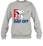 Snoopy Dad's Day Off Horseback Riding Crewneck Sweatshirt Outdoor