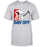 Snoopy Dad's Day Off Hiking T-shirt Outdoor Activity Father Tee