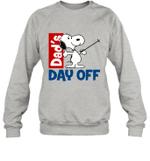 Snoopy Dad's Day Off Skiing Crewneck Sweatshirt Outdoor Activity