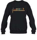Vintage Evolution Love Football Crewneck Sweatshirt Family Tee
