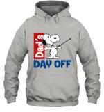 Snoopy Dad's Day Off Skiing Hoodie Sweatshirt Outdoor Activity