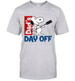 Snoopy Dad's Day Off Boating T-shirt Outdoor Activity Father Tee
