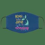 Born In June And Mermazing Face Mask Mermaid Birthday