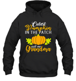 Cutest Pumpkin In The Patch Grandma Halloween Costume Hoodie Sweatshirt Family Tee