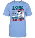 Joe Cool Snoopy Skiing T-shirt Skiing Makes Me Happy Tee
