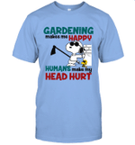 Joe Cool Snoopy Gardening T-shirt Gardening Makes Me Happy Tee