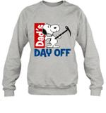 Snoopy Dad's Day Off Hiking Crewneck Sweatshirt Outdoor Activity