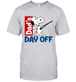 Snoopy Dad's Day Off Hunting T-shirt Outdoor Activity Father Tee