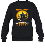 Forget Candy Just Give Me Beer Halloween Crewneck Sweatshirt Family Tee