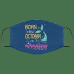 Born In October And Mermazing Face Mask Mermaid Birthday