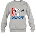 Snoopy Dad's Day Off Boating Crewneck Sweatshirt Outdoor Activity
