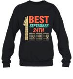 Best Guitar Dad Chords Birthday September 24th Crewneck Sweatshirt Tee