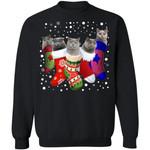 British Shorthair Cat Stocking Christmas Sweater Funny Xmas Gift HA11-99Paws-com