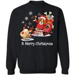 A Merry Christmas Santa Beagle Christmas Sweater Xmas Gift MN11-99Paws-com