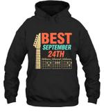 Best Guitar Dad Chords Birthday September 24th Hoodie Sweatshirt Tee