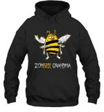 Zombee Family Halloween Zombie Bee Grandma Hoodie Sweatshirt Tee