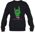 Zombie Wife Rock Halloween Crewneck Sweatshirt Family Tee