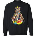 Christmas Tree Basset Hound Dog Sweater Xmas Sweatshirt Gift MN12-99Paws-com