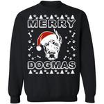 Great Dane Merry Dogmas Sweatshirt Xmas Gift For Dog Lover VA11-99Paws-com