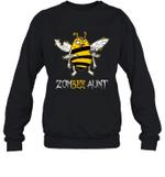 Zom Bee Family Halloween Zombie Bee Aunt Crewneck Sweatshirt Tee