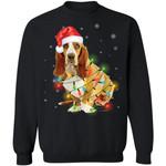 Basset Hound Santa Hat Dog Christmas Sweater Xmas Gift Idea TT11-99Paws-com