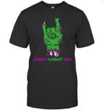 Zombie Husband Rock Halloween T-shirt Family Tee