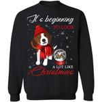 Beagle It's Beginning To Look A Lot Like Christmas Sweatshirt HA11-99Paws-com