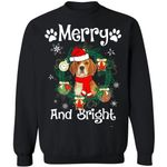 Merry And Bright Beagle Dog Xmas Sweater Gift Idea MN11-99Paws-com