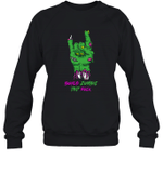 Bonus Zombie Dad Rock Halloween Crewneck Sweatshirt Family Tee