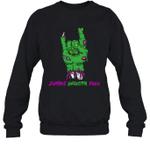 Zombie Grandpa Rock Halloween Crewneck Sweatshirt Family Tee
