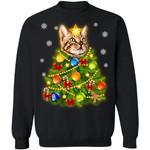 Bengal Cat Christmas Tree Sweater Xmas Gift Idea TT11-99Paws-com