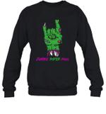 Zombie Sister Rock Halloween Crewneck Sweatshirt Family Tee