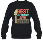 Best Guitar Dad Chords Birthday September 25th Crewneck Sweatshirt Tee