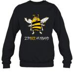 Zombee Family Halloween Zombie Bee Husband Crewneck Sweatshirt Tee