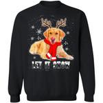 Golden Retriever Reindeer Xmas Dog Sweater Let It Snow Gift MN11-99Paws-com