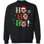 Ho Ho Ho Bulldog Christmas Dog Sweater Xmas Gift TT11-99Paws-com