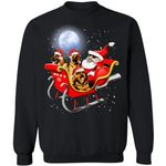 German Shepherds Santa Sleigh Christmas Dog Sweatshirt Xmas Gift HT209-99Paws-com