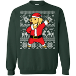 Golden Retriever Dabbing Santa Claus Christmas Sweatshirt Gift Idea-99Paws-com