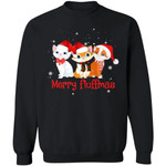 Merry Fluffmas Sweatshirt Funny Xmas Gift For Cat Lover MT11-99Paws-com