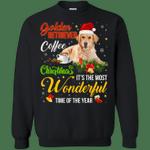Golden Retriever Coffee Wonderful Christmas Sweatshirt-99Paws-com