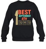 Best Guitar Dad Chords Birthday September 8th Crewneck Sweatshirt