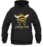 Zombee Family Halloween Zombie Bee Mom Hoodie Sweatshirt Tee